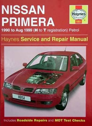 Picture of NISSAN PRIMERA 1990 to Aug. 1999 (H to T registration) PETROL SERVICE AND REPAIR MANUAL N. 1851