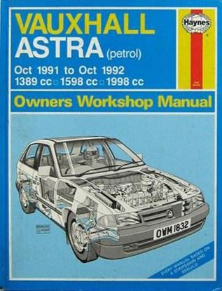 Picture of OPEL ASTRA (VAUXHALL) 1991-1992 N. 1832 OWNERS WORKSHOP MANUALS