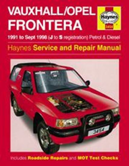 Immagine di OPEL FRONTERA (VAUXHALL) PETROL & DIESEL 1991-98 N. 3454 OWNERS WORKSHOP MANUALS