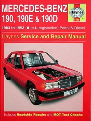 Immagine di MERCEDES-BENZ 190/190E & 190D PETROL & DIESEL, 1983-93 N. 3450 OWNERS WORKSHOP MANUALS