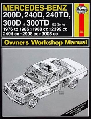 Immagine di MERCEDES-BENZ 200 D/240 D/240 TD/300 D & 300 TD, 1976-85 N. 1114 OWNERS WORKSHOP MANUALS
