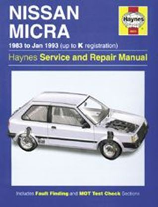 Immagine di NISSAN MICRA (K10), 1983-93 N. 0931 OWNERS WORKSHOP MANUALS