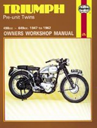 Picture of TRIUMPH PRE-UNIT TWINS 1947-62 N. 0251 - OWNERS WORKSHOP MANUALS