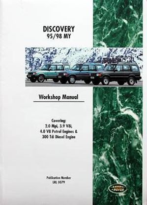 Picture of LAND ROVER DISCOVERY 1995/98 PETROL 2.0 MPI, 3.9 V8I, 4.0 V8 & DIESEL 300 TDI ALSO INCLUDES 3.5,3.9,4.0,4.2,4.6 PETROL ENGINE OVERHAUL MANUAL