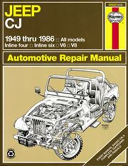 Picture of JEEP CJ, 1949-86 N. 50020 OWNERS WORKSHOP MANUALS