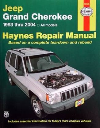 Picture of JEEP GRAND CHEROKEE, 1993-2004 HAYNES REPAIR MANUAL N. 50025