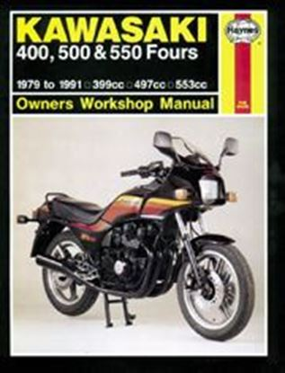 Picture of KAWASAKI 400, 500 & 550 FOURS 1979-91 N. 0910 - OWNERS WORKSHOP MANUALS