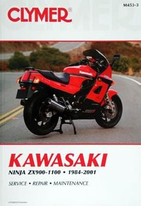 Immagine di KAWASAKI NINJA ZX900-1100 1984-2001 CLYMER REPAIR MANUALS M453-3