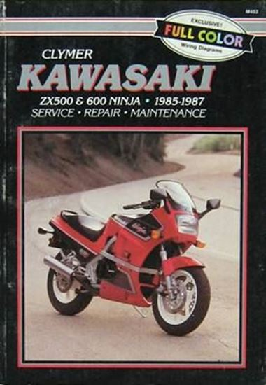 Immagine di KAWASAKI ZX500 & 600 NINJA 1985-1987 CLYMER REPAIR MANUALS M452