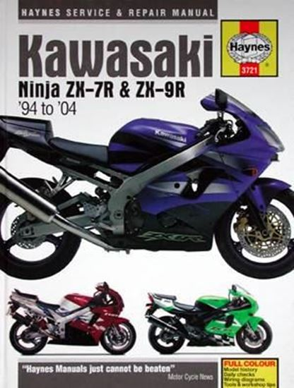 Immagine di KAWASAKI NINJA ZX-7R & ZX-9R 1994 TO 2004 SERVICE & REPAIR MANUAL N. 3721