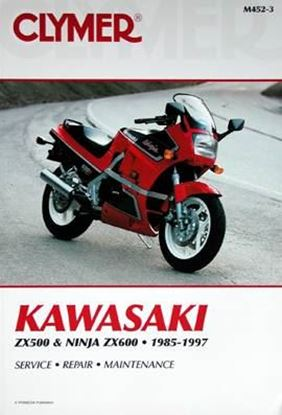 Picture of KAWASAKI ZX500 & 600 NINJA 1985-1997 CLYMER REPAIR MANUALS M452-3