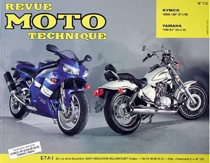"Picture of KYMCO ZING 125 (97/99) ET METEORIT 125 (99) N° 112 - SERIE ""REVUE MOTO TECHNIQUE"""