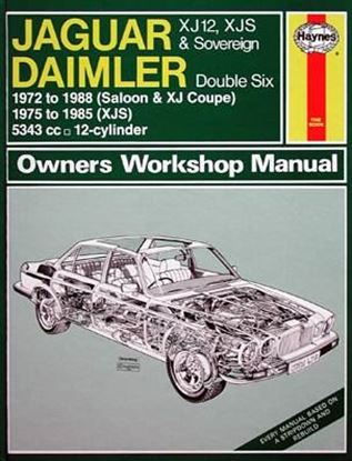Picture of JAGUAR XJ12, XJS & SOVEREIGN, DAIMLER DOUBLE SIX, 1972-88 N. 0478 OWNERS WORKSHOP MANUALS