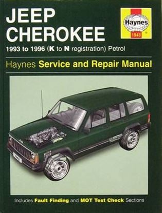 Picture of JEEP CHEROKEE PETROL, 1993-96 K to n registration OWNERS WORKSHOP MANUALS N. 1943
