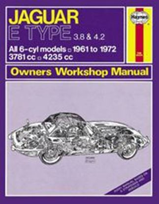Immagine di JAGUAR E TYPE, 1961-72 N. 0140 OWNERS WORKSHOP MANUALS