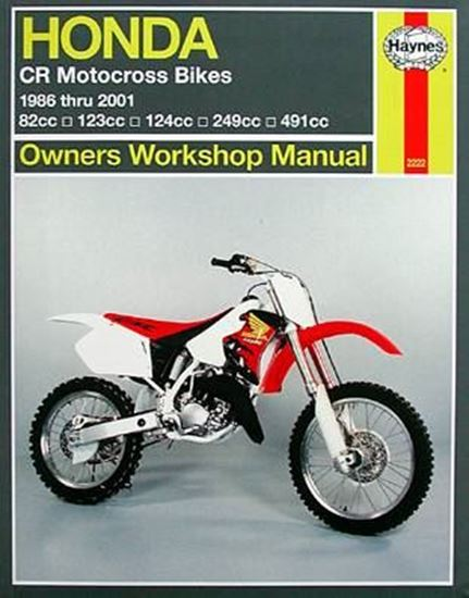 Picture of HONDA CR MOTOCROSS BIKES 1986-2001 N. 2222 - OWNERS WORKSHOP MANUAL