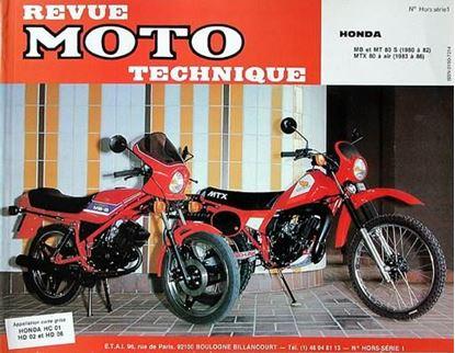 "Picture of HONDA MT 80-MB 80-MTX 80 (80/86) - SERIE ""REVUE MOTO TECHNIQUE"" N° HORS SERIE 1"