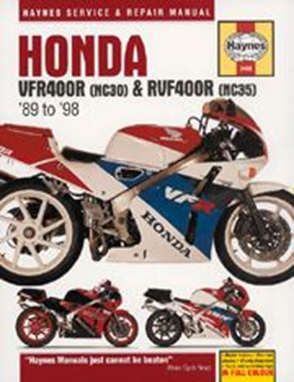 Picture of HONDA VFR400R & RVF400R 1989-98 N. 3496 - OWNERS WORKSHOP MANUALS
