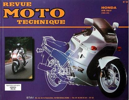"Picture of HONDA VFR750F (86/89) N° 63 - SERIE ""REVUE MOTO TECHNIQUE"""