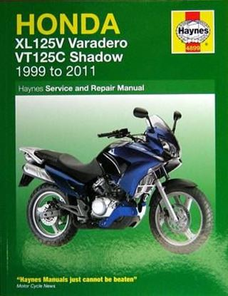 Immagine di HONDA XL125V VARADERO VT125C SHADOW 1999 TO 2011 N. 4899 - OWNERS WORKSHOP MANUALS