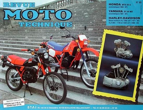 "Picture of HARLEY-DAVIDSON XL1000 (1977/85) ET XLH883 1100 (1986/94) N° 65 - SERIE ""REVUE MOTO TECHNIQUE"""