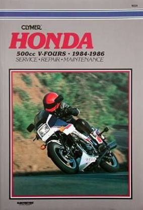 Picture of HONDA 500 V-FOURS 1984-86: VF500C MAGNA, VF500F INTERCEPTOR - M329 - CLYMER REPAIR MANUALS