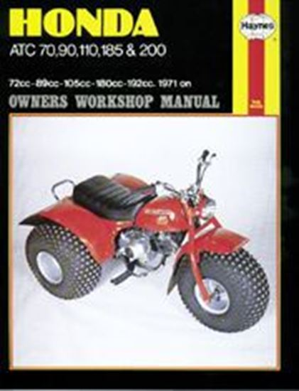 Picture of HONDA ATC70, 90, 110, 185 & 200 1971-81 N. 0565 - OWNERS WORKSHOP MANUALS