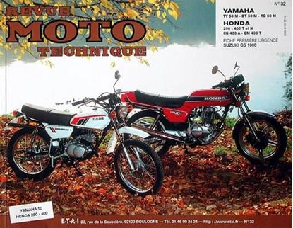 "Picture of HONDA CB 250/400 T (N/A)-CM 400T N° 32 - SERIE ""REVUE MOTO TECHNIQUE"""