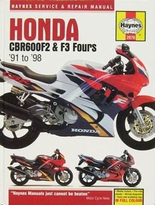 Immagine di HONDA CBR 600 F2 & F3 FOURS 1991-98 N. 2070 - OWNERS WORKSHOP MANUALS
