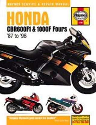 Immagine di HONDA CBR 600F1 & 1000F FOURS 1987-96 N. 1730 - OWNERS WORKSHOP MANUALS