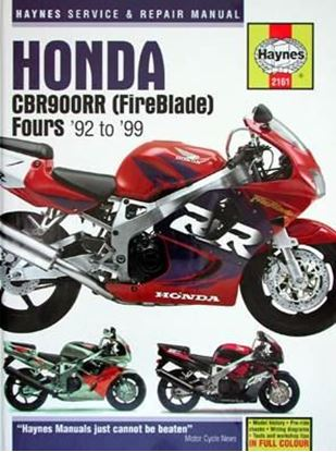 Immagine di HONDA CBR900RR (FIREBLADE) FOURS '92 to '99 SERVICE & REPAIR MANUAL N. 2161