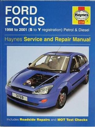 Picture of FORD FOCUS 1998-2001 (S TO Y REGISTRATION) N. 3759 OWNERS WORKSHOP MANUALS