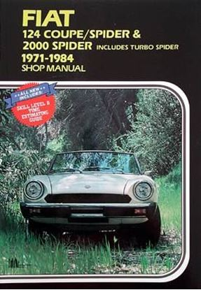 Picture of FIAT 124 COUPE / SPIDER & 2000 1971/84 SHOP MANUAL