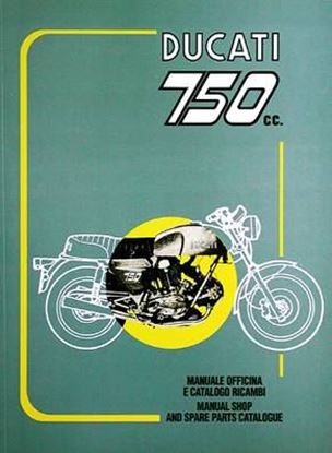 Picture of DUCATI 750CC. GT E SPORT MANUALE OFFICINA E CATALOGO RICAMBI.