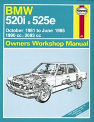 Picture of BMW 520I & 525E 1981-88 N. 1560 OWNERS WORKSHOP MANUALS