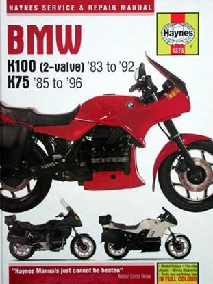 Picture of BMW K100 & 75 2 VALVE 1983-96 N. 1373 - OWNERS WORKSHOP MANUALS