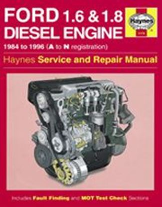 Picture of FORD 1.6 & 1.8 LITRE DIESEL ENGINE, 1984-96 N. 1172 OWNERS WORKSHOP MANUALS