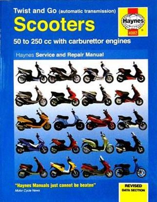 Picture of SCOOTERS 50 TO 250cc WITH CARBURETTORS ENGINE - TWIST AND GO (AUTOMATIC TRANSMISSION) SERVICE AND REPAIR MANUAL N. 4082