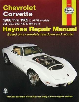 Immagine di CHEVROLET CORVETTE 1968-1982 N. 24040 OWNERS WORKSHOP MANUALS