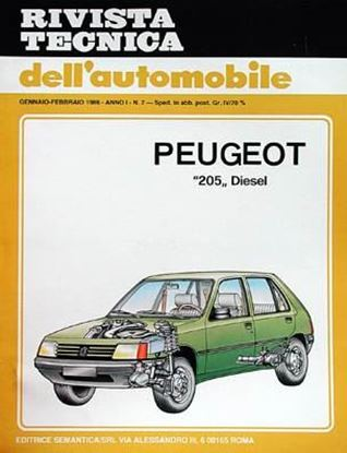 Picture of PEUGEOT 205 DIESEL, 1984-85 N. 07 SERIE «RIVISTA TECNICA DELL'AUTOMOBILE»