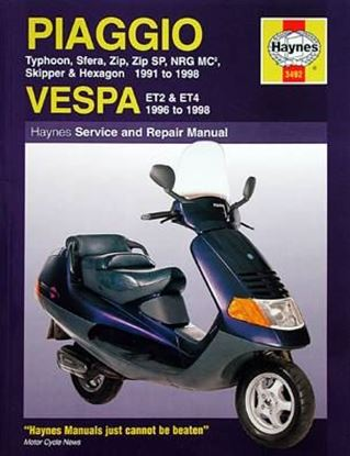 Picture of PIAGGIO VESPA SCOOTERS 1991-98 N. 3492 - OWNERS WORKSHOP MANUALS