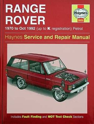 Picture of RANGE ROVER V8, 1970-92 N. 0606 OWNERS WORKSHOP MANUALS