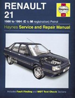 Picture of RENAULT 21, 1986-94 N. 1397 OWNERS WORKSHOP MANUALS