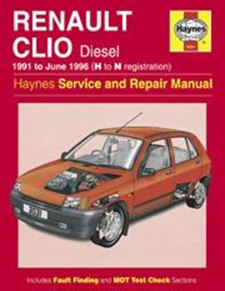 Picture of RENAULT CLIO DIESEL, 1991-96 N. 3031 OWNERS WORKSHOP MANUALS
