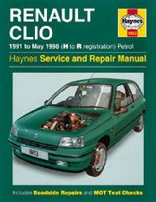 Picture of RENAULT CLIO, PETROL 1991-93 N. 1853 OWNERS WORKSHOP MANUALS