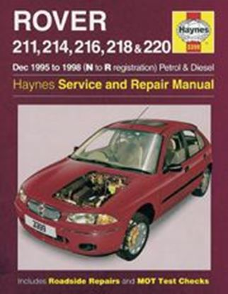 Picture of ROVER 200 SERIES PETROL & DIESEL, 1995-98 N. 3399 OWNERS WORKSHOP MANUALS