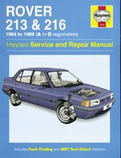 Picture of ROVER 213 & 216, 1984-89 N. 1116 OWNERS WORKSHOP MANUALS