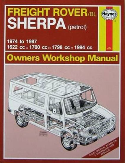 Picture of FREIGHT ROVER SHERPA PETROL 1974-87 (UP TO E) N. 463 OWNERS WORKSHOP MANUALS