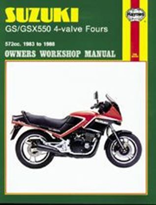 Immagine di SUZUKI GS/GSX550 4-VALVE FOURS 1983-88 N. 1133 - OWNERS WORKSHOP MANUALS