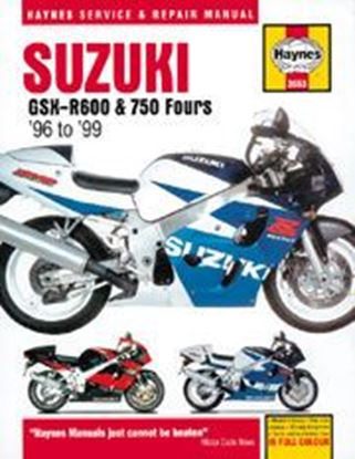 Picture of SUZUKI GSX R600 & 750 FOURS 1996-99 N. 3553 - OWNERS WORKSHOP MANUALS